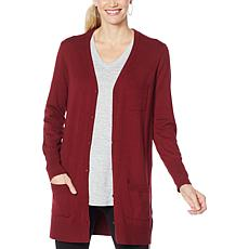 """As Is"" DG2 by Diane Gilman Quad Blend Long Cardigan"