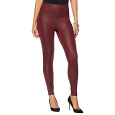 """As Is"" DG2 by Diane Gilman Slim and Sleek Coated Knit Legging"
