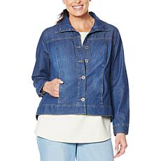 """As Is"" DG2 by Diane Gilman SoftCell Denim Jacket"