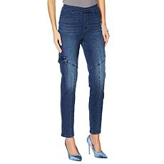 """""""As Is"""" DG2 by Diane Gilman Stretch Twill Cargo Jegging - Basic"""