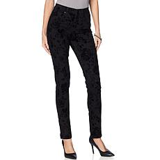"""As Is"" DG2 by Diane Gilman Virtual Stretch Novelty Skinny Jean - F..."