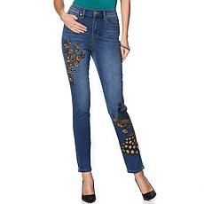 """As Is"" DG2 by Diane Gilman Virtual Stretch Novelty Skinny Jean - B..."