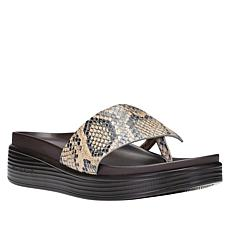 """As Is"" Donald J. Pliner Fifi22 Leather Platform Thong Sandal"