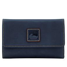 """As Is"" Dooney & Bourke Florentine Leather Flap Wallet"
