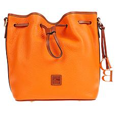 """As Is"" Dooney & Bourke Pebble Leather Large Drawstring Bag"