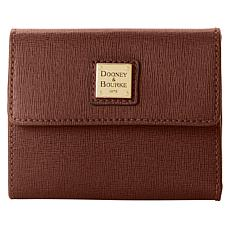 """""""As Is"""" Dooney & Bourke Saffiano Leather Small Flap Wallet"""