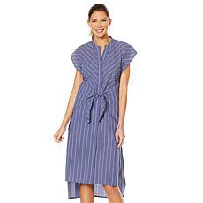 """""""As Is"""" Evryday Jane Tai Waist Striped Dress"""