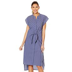 """As Is"" Evryday Jane Tie-Waist Striped Dress"