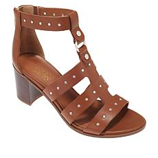 """As Is"" Franco Sarto Harrington Studded Leather Gladiator Sandal"