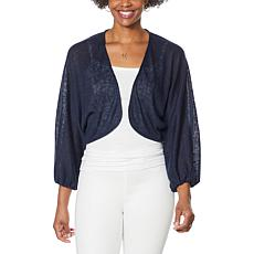 """""""As Is"""" G by Giuliana Batwing Sleeve Cropped Cardigan"""