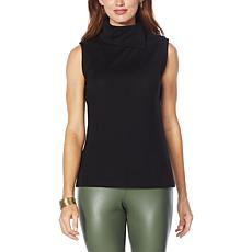 """""""As Is"""" G by Giuliana Convertible Turtleneck Sleeveless Top"""