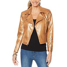 """As Is"" G by Giuliana Faux Suede Moto Jacket"