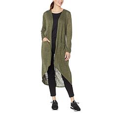 """""""As Is"""" G by Giuliana Hi-Low Duster Cardigan"""