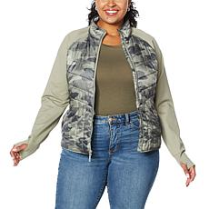 """""""As Is"""" G by Giuliana Ponte Puffer Mixed Jacket"""