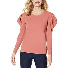 """As Is"" G by Giuliana Puff Sleeve Crepe Knit Top"