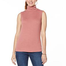 """As Is"" G by Giuliana Sleeveless Mock Neck Top"