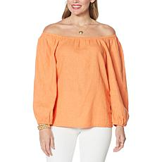 """""""As Is"""" G by Giuliana Square-Neck On/Off-Shoulder Blouse"""