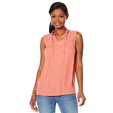 """As Is"" G by Giuliana Summer Shine Woven Top"