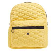 """As Is"" Girlfriend Gear Diamond Quilt Backpack"