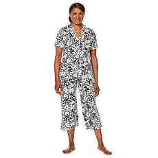 """As Is"" HUE 2-piece Capri Pant Sleepwear Set"