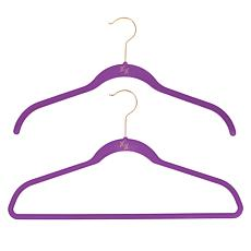 """""""As Is"""" Huggable Hangers 100-pack of Shirt & Suit Hangers with Bras..."""