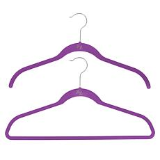"""As Is"" Huggable Hangers 60-pack of Shirt & Suit Hangers with Brass..."