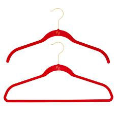 """As Is"" Huggable Hangers 60-pack of Shirt & Suit Hangers with Chrom..."