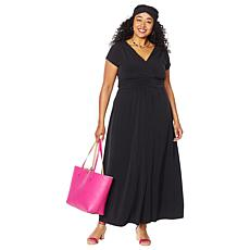 """""""As Is"""" IMAN Boho Chic Maxi Dress with Head Wrap"""