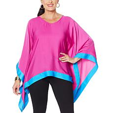 """""""As Is"""" IMAN City Chic Contrast Colorblock Poncho"""