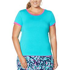"""""""As Is"""" IMAN City Chic Double Layer Tee"""