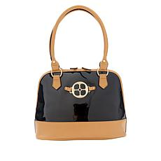 """""""As Is"""" IMAN City Chic Patent Dome Satchel"""