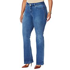 """As Is"" IMAN Global Chic 360 Slim Boot-Cut Jean"