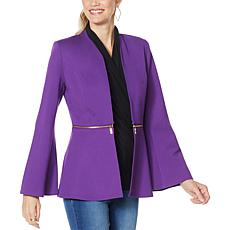 """""""As Is"""" IMAN Global Chic Convertible Bell-Sleeve Ponte Blazer"""