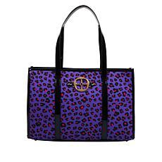 """""""As Is"""" IMAN Global Chic Luxury Resort Leopard-Print Tote"""
