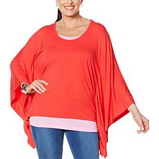 """""""As Is"""" IMAN Global Chic Luxury Resort Poncho Tunic with Tank"""