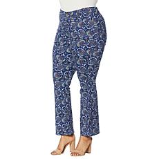 """""""As Is"""" IMAN Global Chic Paisley-Print Mid-Rise Flare Jean"""