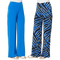 """As Is"" IMAN Global Chic Reversible Palazzo Pant"