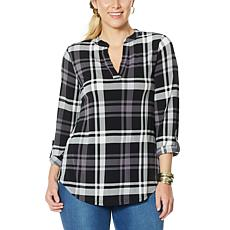"""""""As Is"""" IMAN Global Chic Roll Tab Utility Top"""