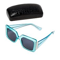 """""""As Is"""" IMAN Global Chic Square-Frame Sunglasses with Case"""