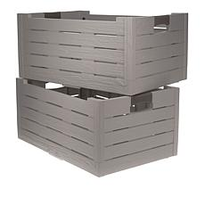 """As Is"" Improvements 2-pack Collapsible Storage Boxes"