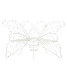 """""""As Is"""" Improvements Wrought Iron Monarch Butterfly Bench"""