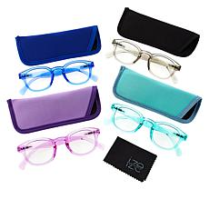 """""""As Is"""" Ize 4-pack Blue Light Readers - Round"""