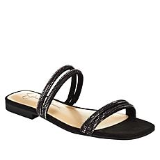 """""""As Is"""" Jessica Simpson Raexe 2-Band Embellished Slip-On Sandal"""