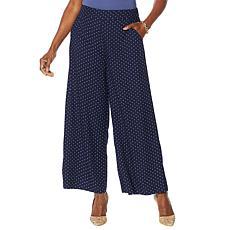 """As Is"" Jessica Simpson Saydee Printed Wide-Leg Soft Pant"
