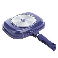 """""""As Is"""" Kitchen HQ Titanium-Infused Ceramic Nonstick Flip Pan"""