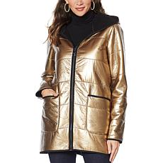 """As Is"" Laurier Metallic Quilted Coat"