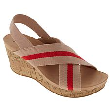 """As Is"" LifeStride Dream Big Stretch Gore Wedge Sandal"