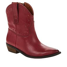 """As Is"" Lucky Brand Chantelx Western-Inspired Leather Bootie"
