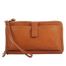 """""""As Is"""" Lucky Carp Leather Crossbody Wallet"""
