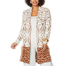"""""""As Is"""" MarlaWynne 2-Tone Jacquard Patterned Topper"""